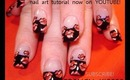 french kiss lip print design: robin moses nail art tutorial