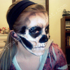 Skull Make-Up - Side View