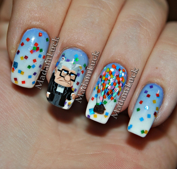 Variety Of Nail Art By Yours Truly: UP...movie Inspired Nail Art