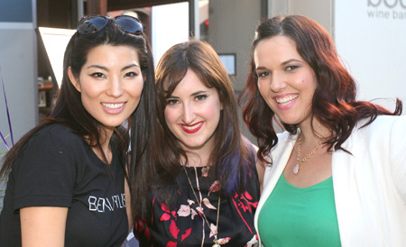 Beautylish team members Romee Ham, Victoria Stanell and Alexandra Jevtic at the Beautylish/IMATS LA event