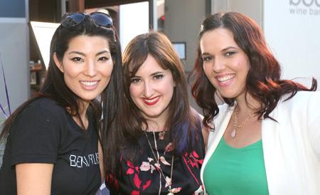 Beautylish team members Romee Ham, Victoria Stanell and Alexandra Jevtic at the Beautylish/IMATS LA event