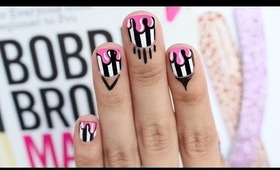 CRAZY Nail Art: Dripping Paint on Stripes!
