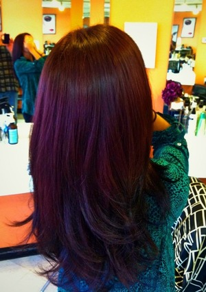 ... how to get to this purple plum hair color i keep finding reddish hair
