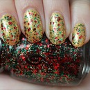 China Glaze Party Hearty (Layered Over OPI Oy-Another Polish Joke!)
