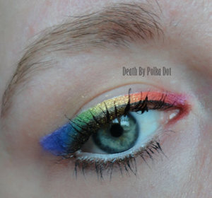 Rainbow eyeliner, inspired by a Pixiwoo tutorial on YouTube.