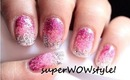 Ombre nails without sponge - No sponge gradient glitter nail art