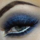 Blue smoky eyes