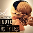 5 Minute Hairstyles | Twisted Headband Low Bun Hair Tutorial