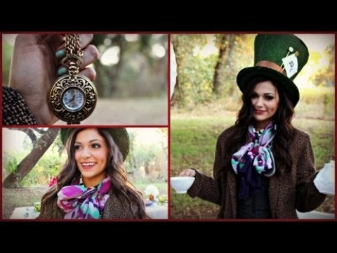 diy mad hatter halloween costume amp makeup macbarbie07