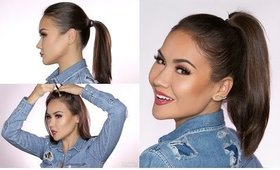 Hair Hack: Fuller Ponytail + Thicker Hairline | Maryam Maquillage