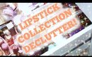 Lipstick Collection/Declutter | Decluttering my Makeup Collection Pt. 1 | Rosa Klochkov