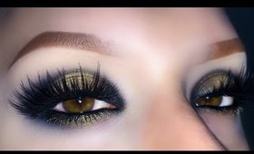 Sexy and Sultry YSL Black & Gold - Christmas Makeup Tutorial 2015