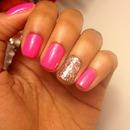 Simple Pink with Sparkle