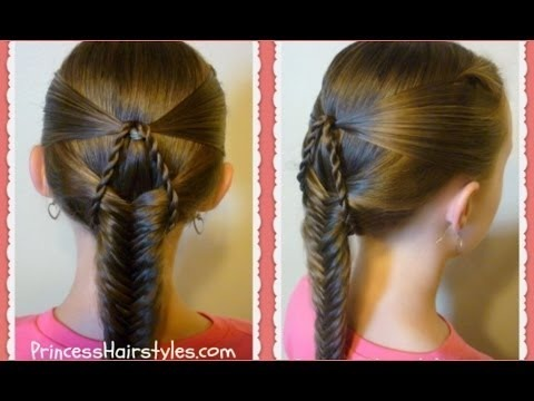 "Suspended Fishtail"" Braided Hairstyle Tutorial For Medium Hair ..."
