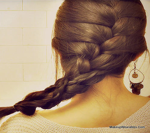 How To French Braid Over Braid On Your Own Hair Tutorial Tina