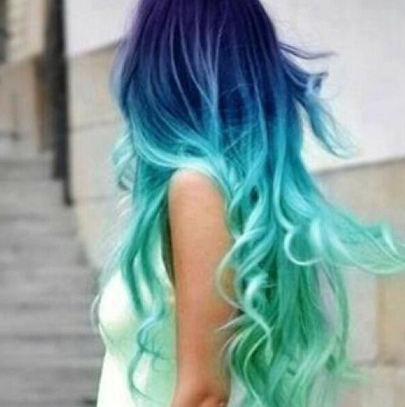 Blue And Aqua Hair Dye Giulia S S Photo Beautylish