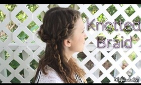 Easy Back to School Knotted Half-Up Braided Style for Short, Medium or Long Hair