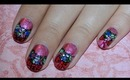 Christmas Wreath Nail Art Design