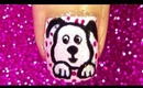 Cute Dog nailart tutorial..... :-)