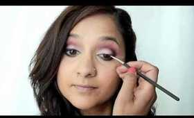 Dramatic Pink Smokey Eye Makeup Tutorial