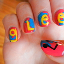 GLEE inspired nails.