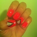 Hot Pink Bling Triangles