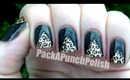 Leopard Print Tape Triangle Nail Art Tutorial