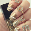 Sparkling Gold Nails