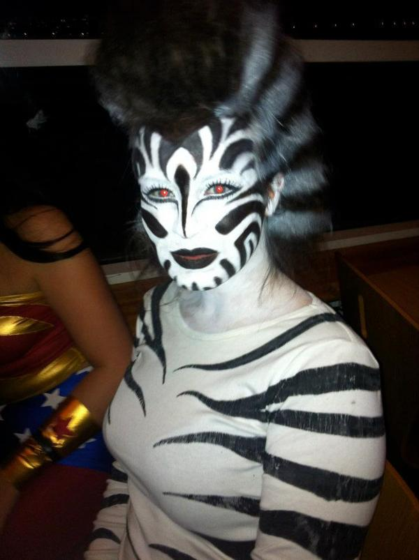 Tiger Stripes Body Paint