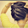 Korean Bun | Upside Down Braided Bun Updo, French Rope Braid Hair Tutorial