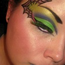 Spider Web Halloween Makeup!