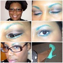 Teal Colored Eyebrows & Waleos
