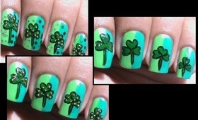 1 design = 3 versions!  St pattys day nails - St patricks art tutorial easy nail art designs