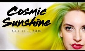 YELLOW HAIR TRANSFORMATION | Arctic Fox Cosmic Sunshine