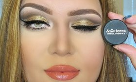 Golden Cut Crease Makeup