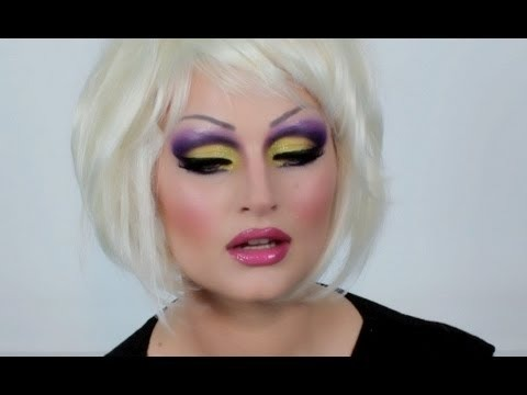 purple and yellow drag make up tutorial pixiwoo video. Black Bedroom Furniture Sets. Home Design Ideas