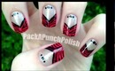 Zebra Print V Shape French Tip Nail Art Tutorial