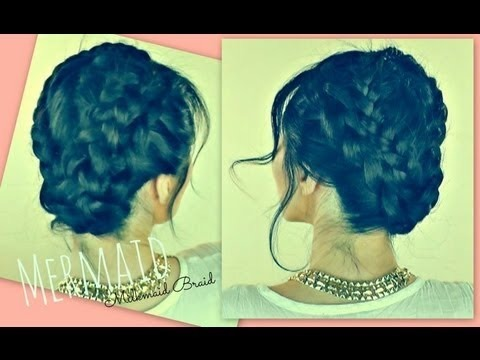 �mermaid milkmaid braid braided updos hairstyles for