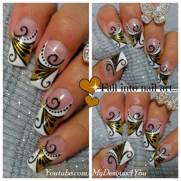 Golden diva nail art design tutorial liudmila z 39 s - Diva nails and beauty ...