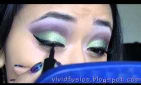 Lime Grape: Green and Purple eyeshadow tutorial