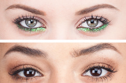 Two Great Ways To Wear Glitter!