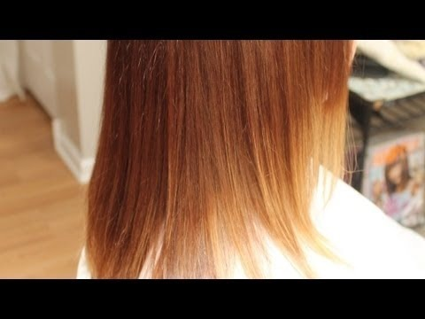 Ombre Hair Color Tutorial, Red with Blonde Ends, Beveling Technique ...