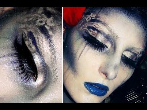 Corpse bride movie inspired make-up / Collab with other gurus / Eternal creature gothic blue tears