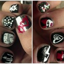 Marilyn Manson inspired nails