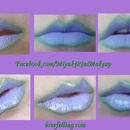 Purple and Green lips