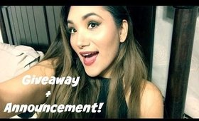 GIVEAWAY + ANNOUNCEMENT // VLOGMAS 2015 // Day 21-22
