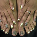 Minx Nails - Cheetah & Gold Lightning