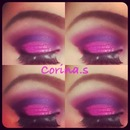 Pink's and Purple's with a touch of glitter♥