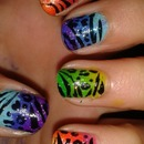 Random Colourful Nail Design