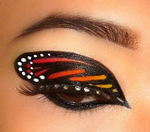 butterfly wing! you could totally change up the colours (: I recreated this look that was saved on my computer but I don't know who's image it is :|